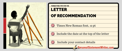 writing letters of recommendation with right formatting