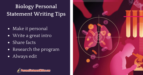 biology personal statement writing tips