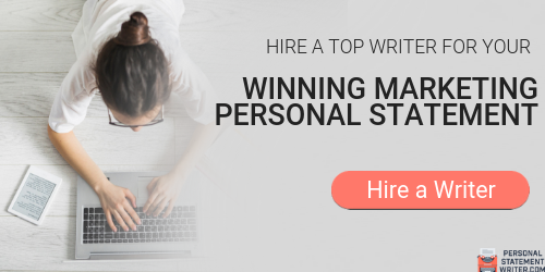 expert marketing personal statement