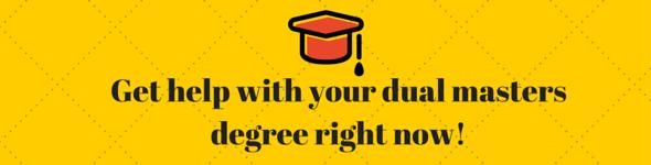 dual masters degree