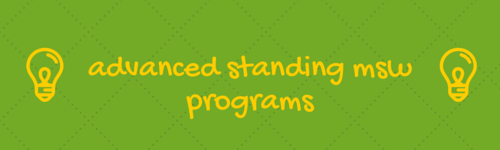 advanced standing msw programs