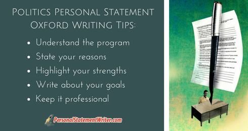politics personal statement oxford writing tips