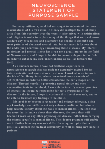 neuroscience statement of purpose sample