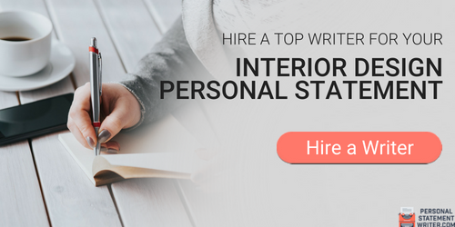 writing personal statement interior design