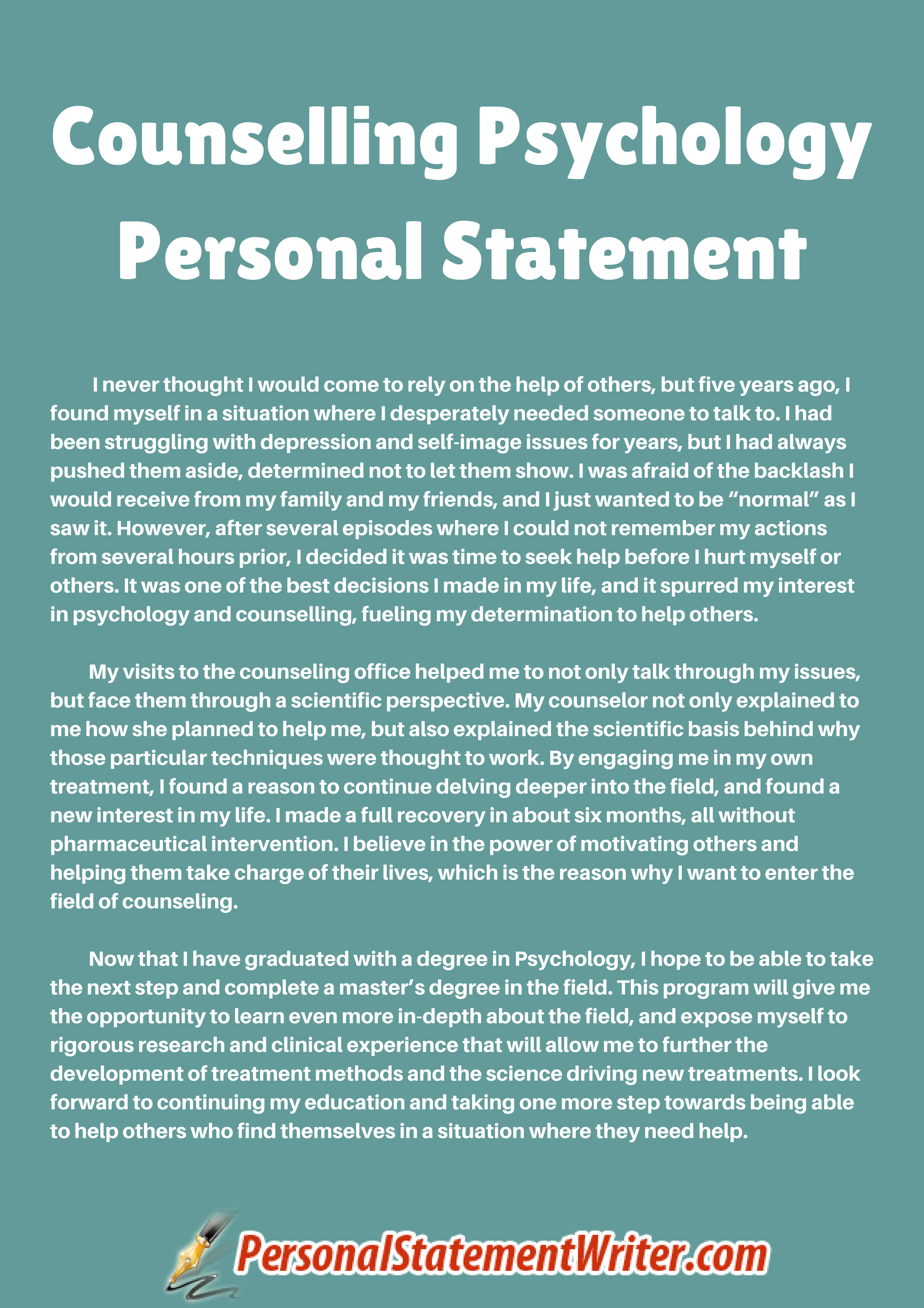 7 things remember about counseling personal statement