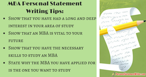 mba personal statement writing tips