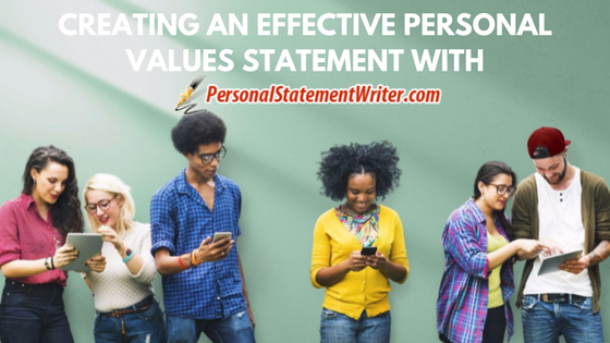 personal values statement writing help