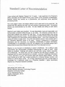 caspa letter of recommendation sample