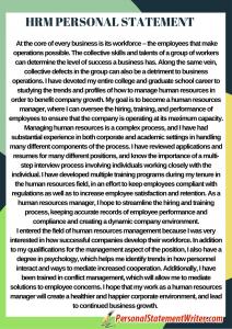 mshrm personal statement sample
