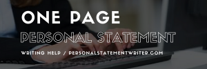 one page personal statement writing help