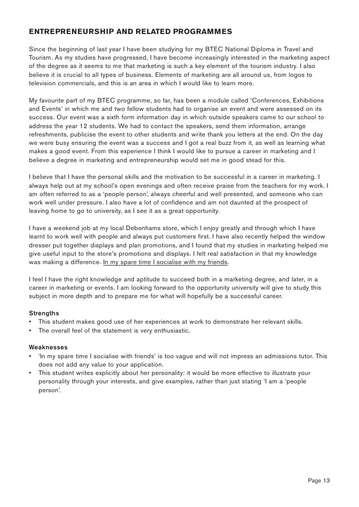 easy and outstanding entrepreneurship personal statement