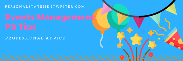 events management personal statement tips