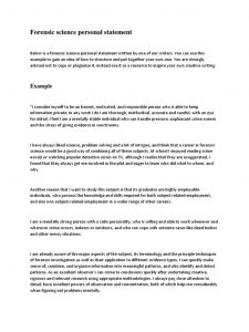 forensic science personal statement example