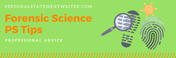 personal statement for forensic science tips
