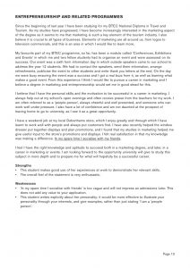 travel and tourism personal statement sample