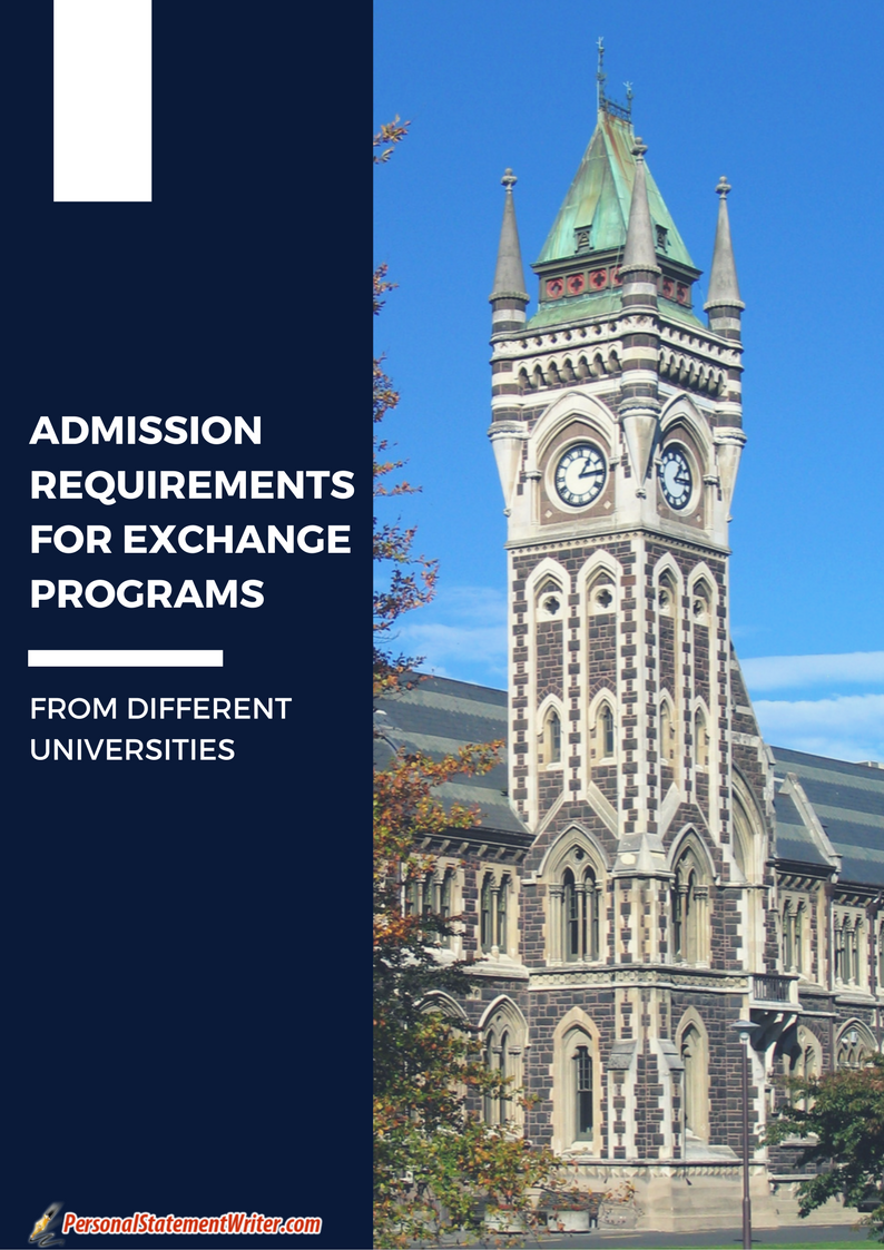 admission requirements for exchange programs