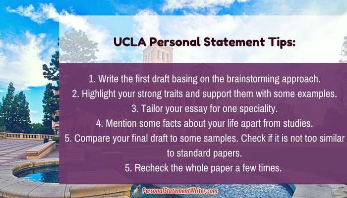 tips to write a good ucla personal statement