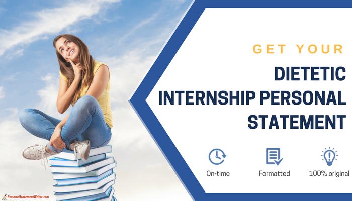dietetic internship personal statement help