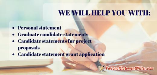 candidate statement for graduate school help