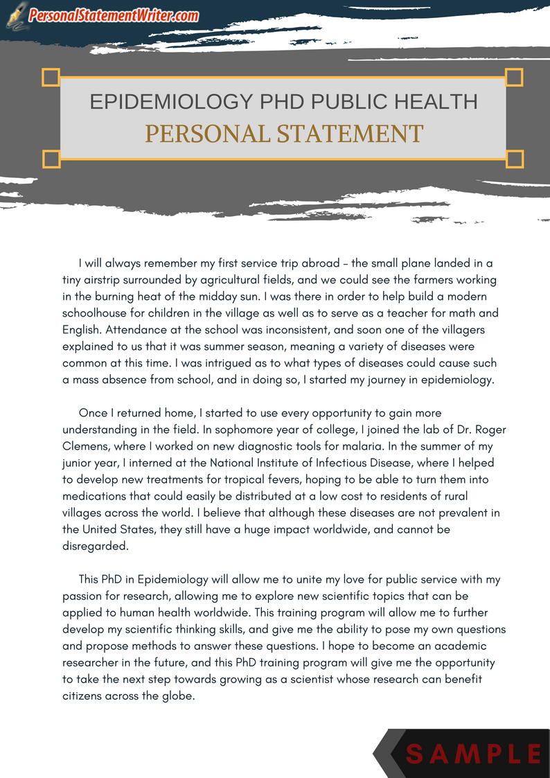 personal statement essay examples for phd  masters  and more