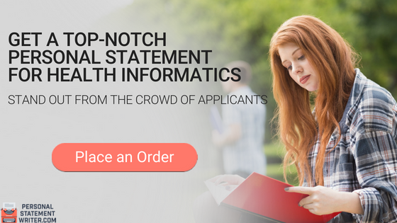 health informatics personal statement writing service