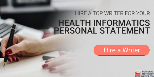 personal statement for health informatics writing