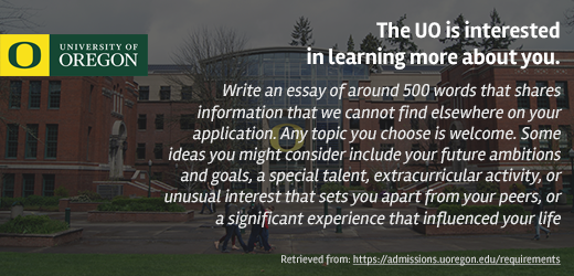 university of Oregon essay advice